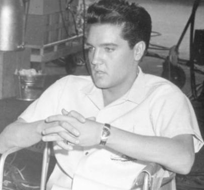 Elvis Presley wearing a Hamilton Ventura watch