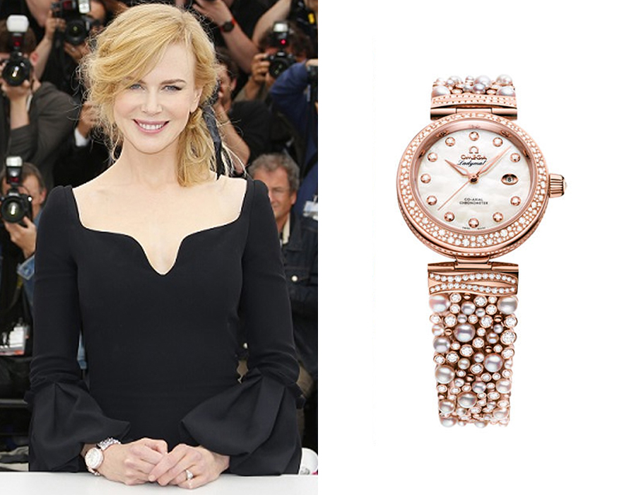 Omega De Ville Ladymatic Diamonds and Pearls Nicole Kidman