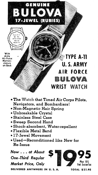 Military watches, Bulova Military Watches