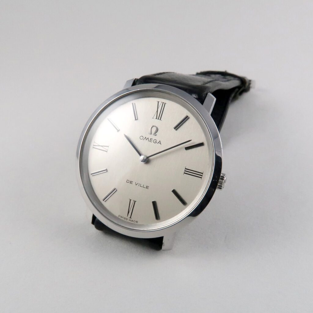 Black Bough Omega de Ville Ref. 111.077 steel vintage wristwatch, circa 1968