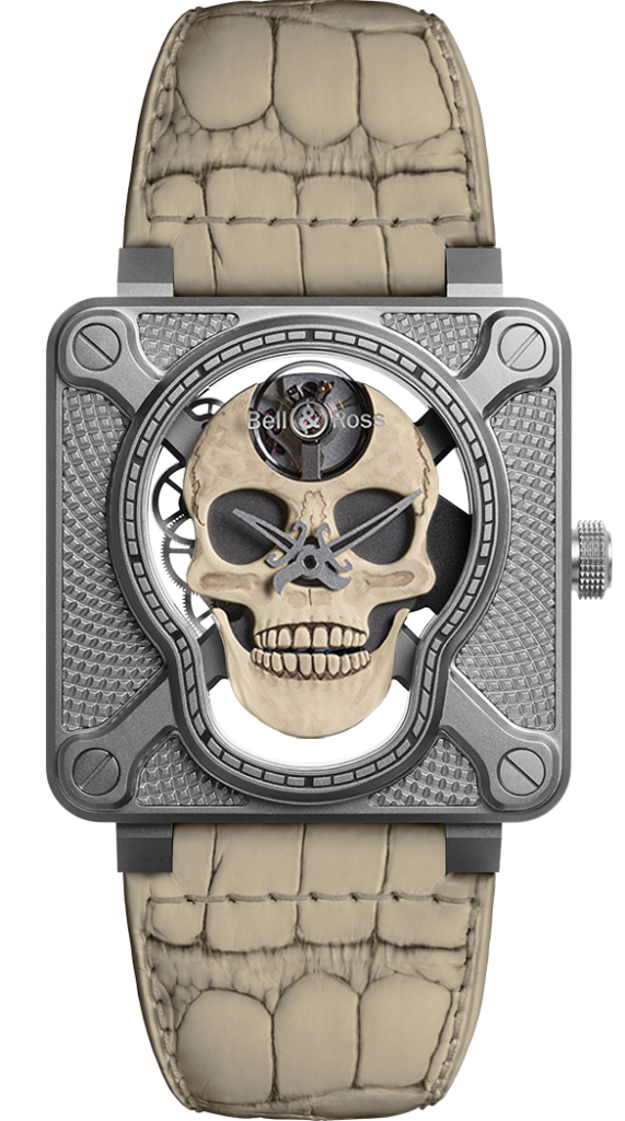 Bell & Ross BR-01 Laughing Skull White, Bell & Ross Watches