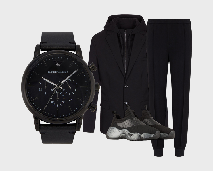 Emporio Armani Watches Leather Chronograph