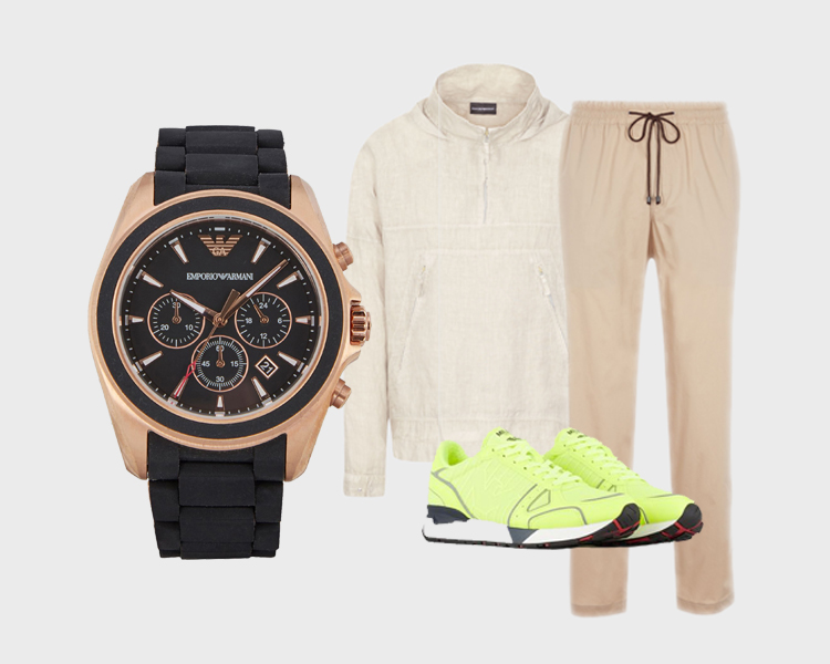 Emporio Armani Watches Rubber Chronograph