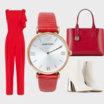Emporio Armani Watches Two-Hand Red Leather Women'sEmporio Armani Watches Two-Hand Red Leather Women's