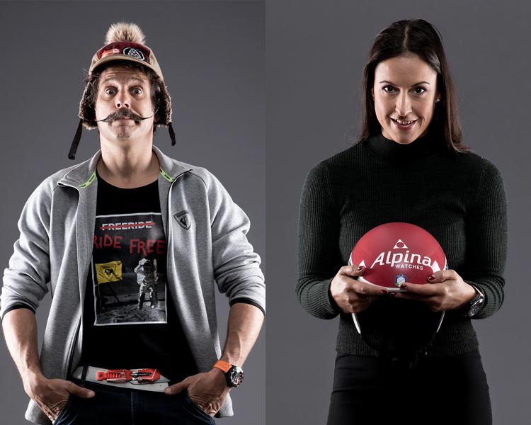 Alpina Ambassadors Enak Gavaggio Irene Curtoni