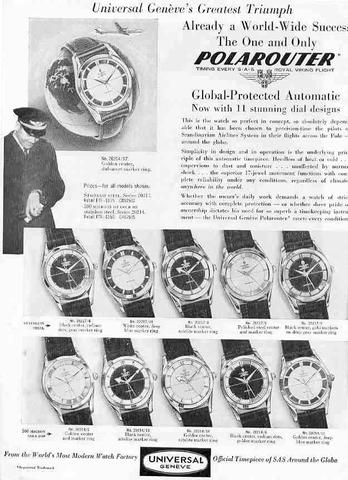 Universal Geneve Polerouter SAS ad
