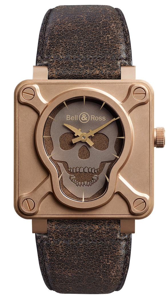 Bell and Ross BR01 Skull Bronze, Bronze Watches