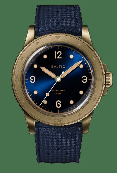 Baltic Aquascaphe Bronze Blue Gilt, Bronze Watches