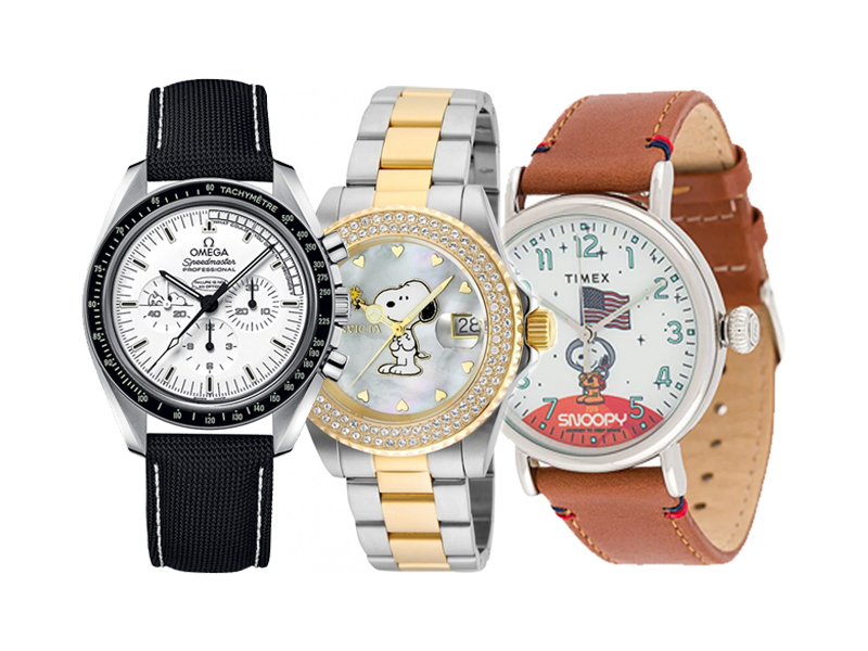 Snoopy Watch Omega Speedmaster Invicta Timex