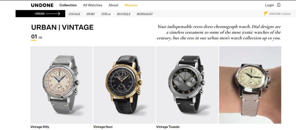 Undone Watches Customisation Process
