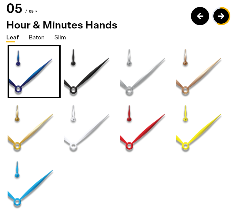 Undone Watches Hour and Minute Hands
