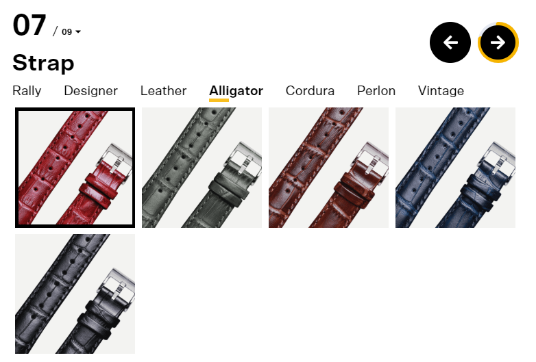 Undone watches strap options