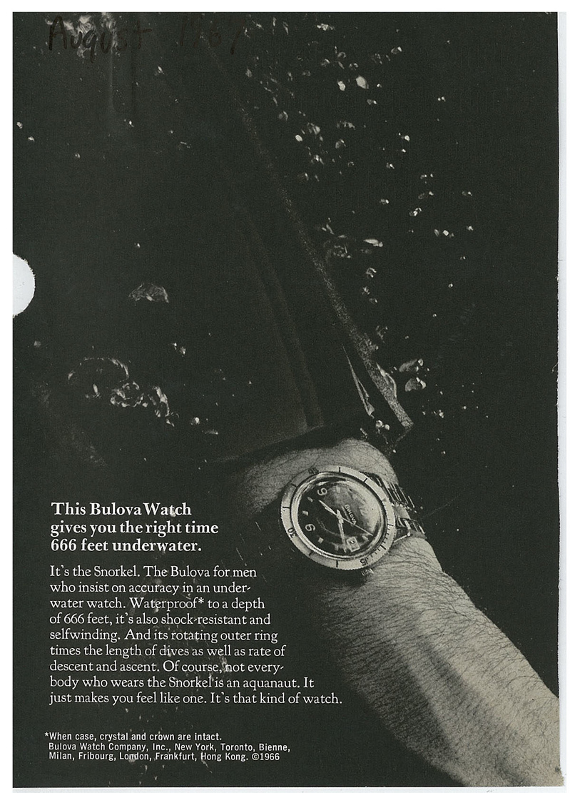 Bulova Oceanographer Ad