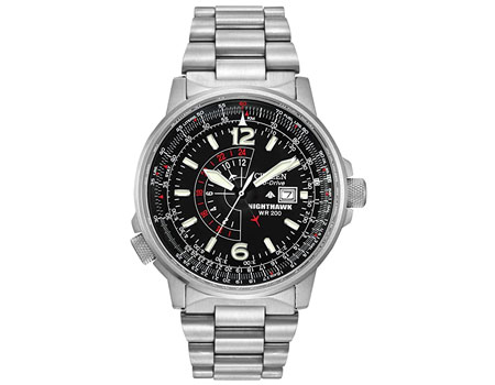 Citizen Eco-Drive Promaster Nighthawk Dual Time Watch BJ7000-52E