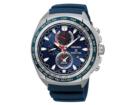 Seiko World Time Solar Chronograph SSC489