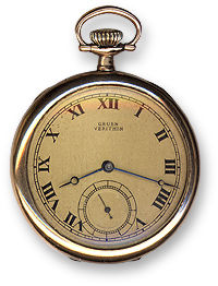 Gruen Veri-Thin 1910s Pocket Watch